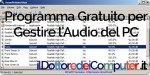 Gestire l'Audio del PC