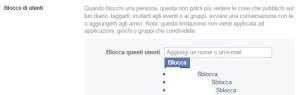 bloccare contatti facebook