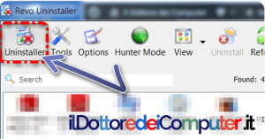 Disinstallare Software