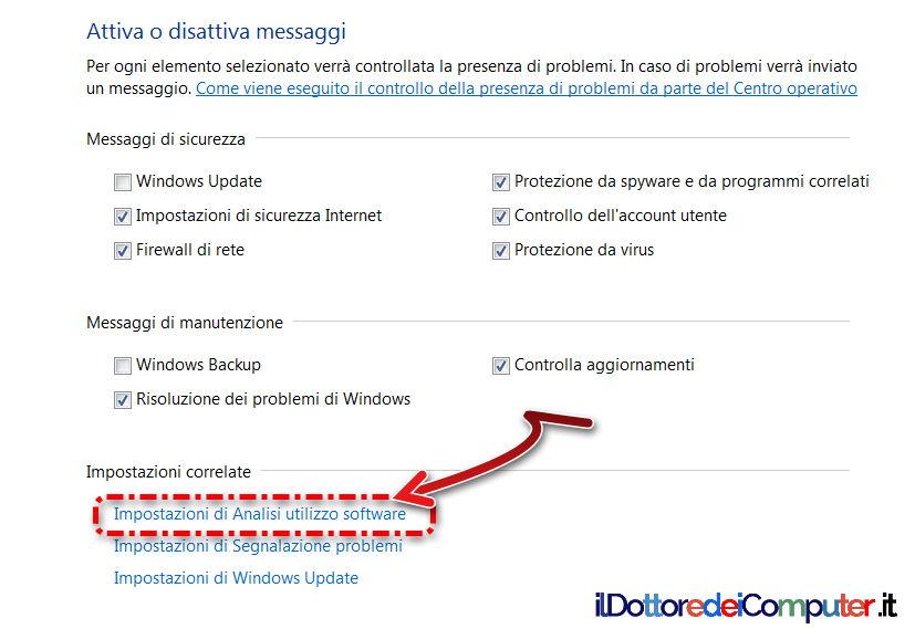 Raccolta dati in windows come evitare il dottore dei for Software di pianificazione del garage