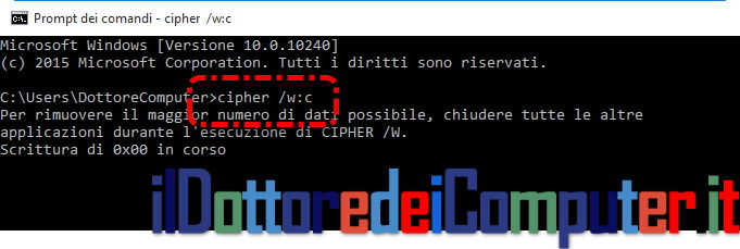 Cipher, Rendi Irrecuperabili i Dati Cancellati