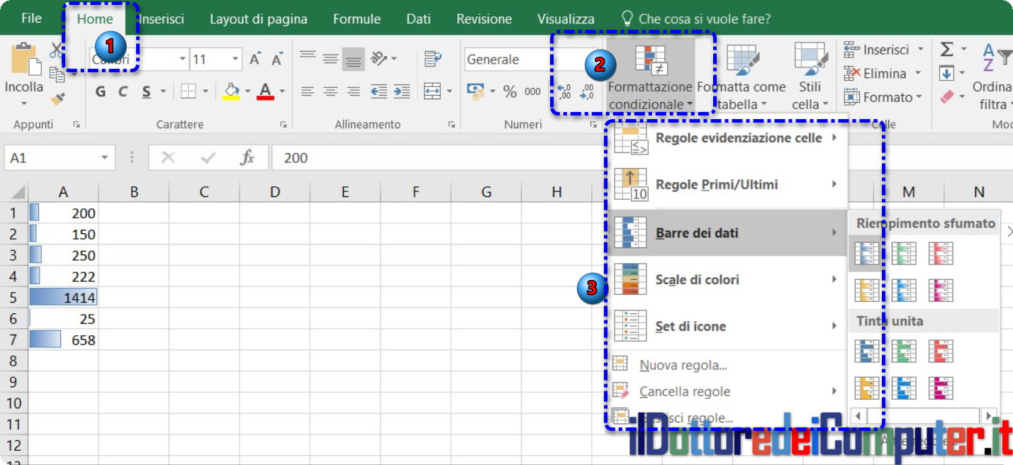Trucchi in Excel 2016