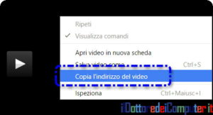 Streaming video copia indirizzo