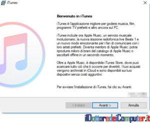 Installazione iTunes