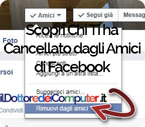 Cancellato dagli Amici di Facebook
