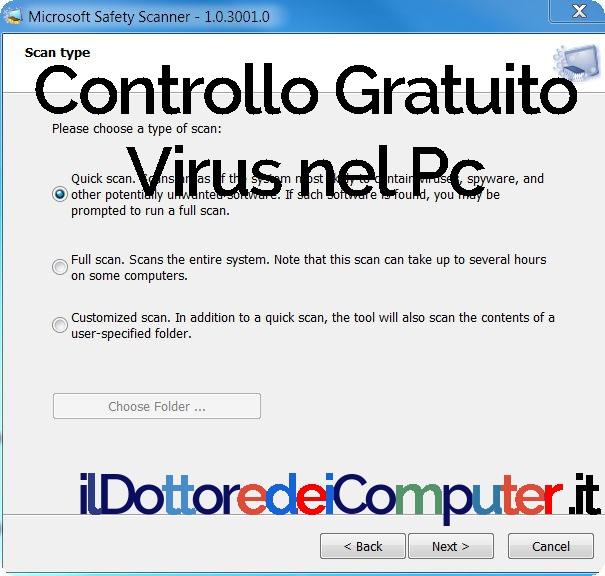 Controllo Gratuito Virus nel Pc