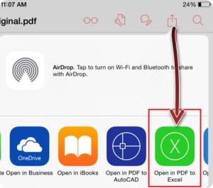 Convertire PDF in Excel
