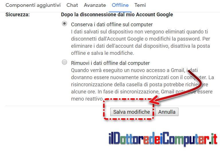 Collegamento Gmail